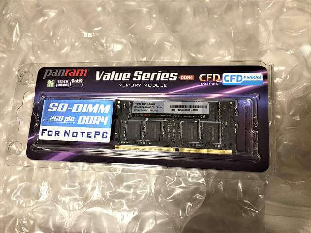CFD Panram DDR4-2133 ノート用メモリ 260pin DIMM(8GB) 型番:D4N2133PS-8G