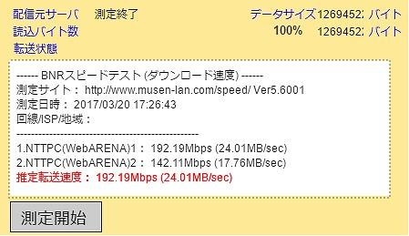 a通信速度:192Mbps