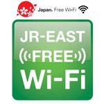 JR-EAST FREE Wi-Fiステッカー