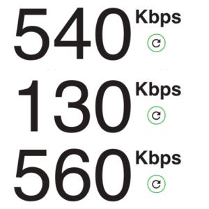 JALの無料Wi-Fi速度
