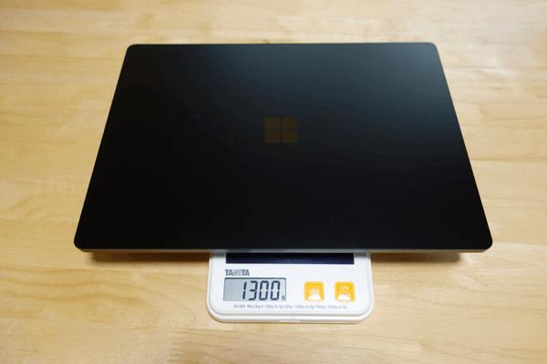 SurfaceLaptop3の重さ